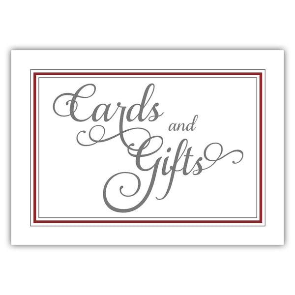 Cards and gifts sign 'Elevated Elegance' - Maroon - Dazzling Daisies