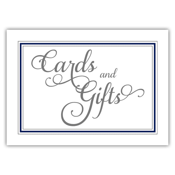 Cards and gifts sign 'Elevated Elegance' - Navy - Dazzling Daisies