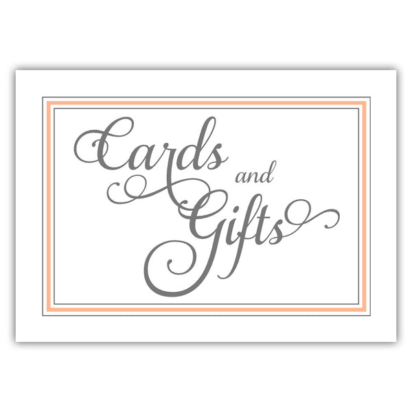 Cards and gifts sign 'Elevated Elegance' - Peach - Dazzling Daisies