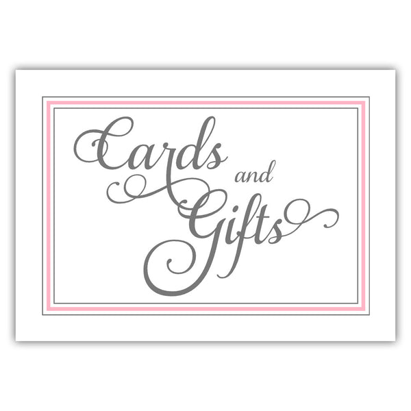 Cards and gifts sign 'Elevated Elegance' - Pink - Dazzling Daisies