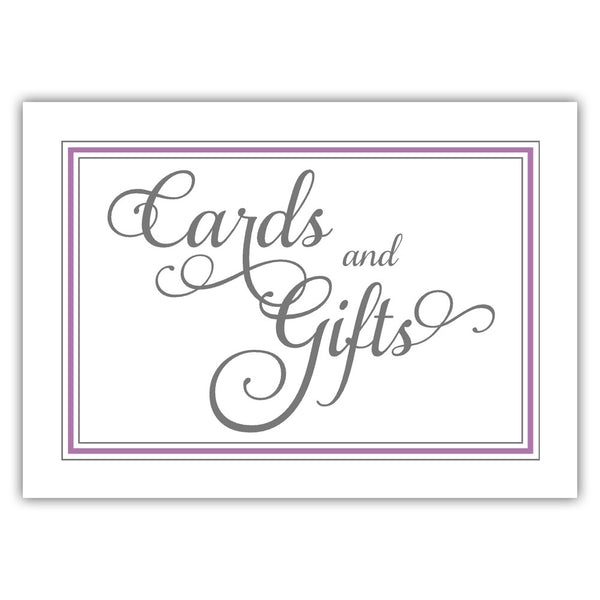 Cards and gifts sign 'Elevated Elegance' - Plum - Dazzling Daisies