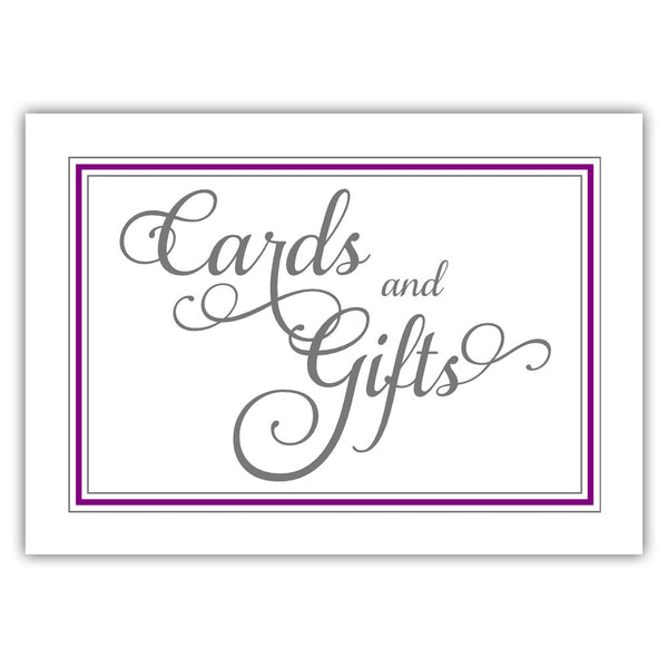 Cards and gifts sign 'Elevated Elegance' - Purple - Dazzling Daisies