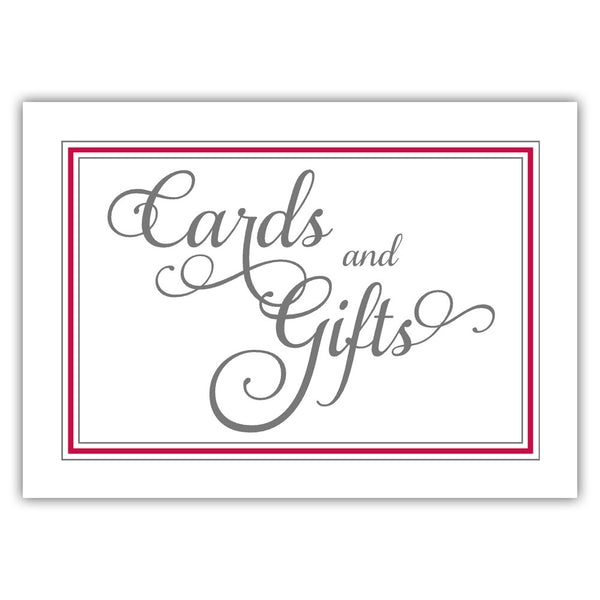 Cards and gifts sign 'Elevated Elegance' - Raspberry - Dazzling Daisies