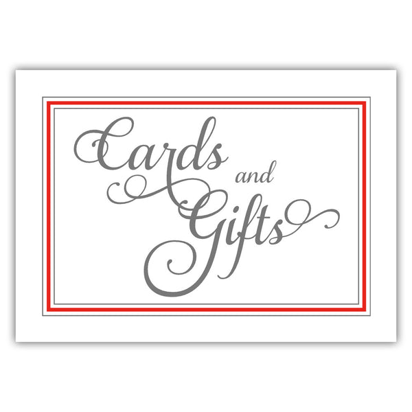 Cards and gifts sign 'Elevated Elegance' - Red - Dazzling Daisies