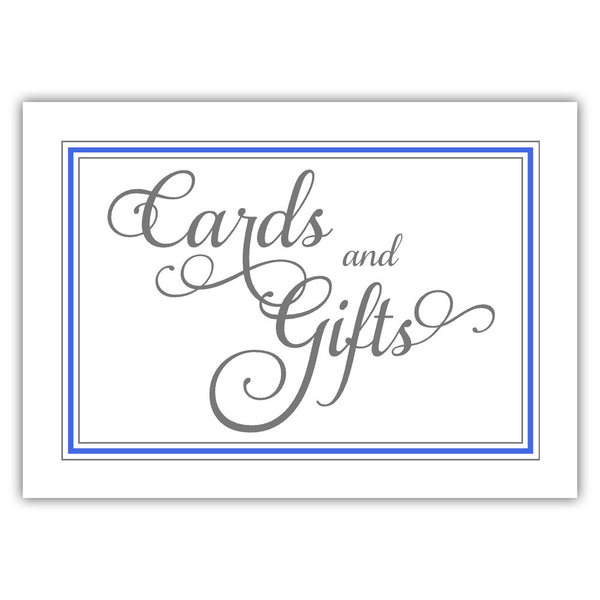 Cards and gifts sign 'Elevated Elegance' - Royal blue - Dazzling Daisies