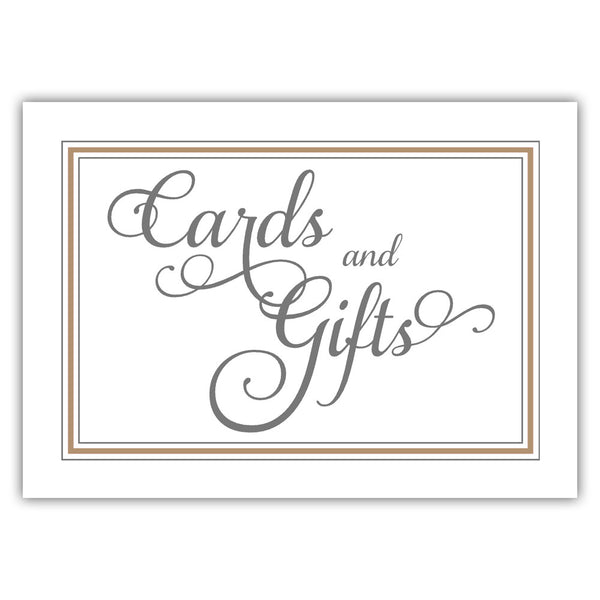 Cards and gifts sign 'Elevated Elegance' - Sand - Dazzling Daisies