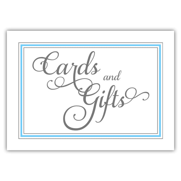 Cards and gifts sign 'Elevated Elegance' - Sky blue - Dazzling Daisies