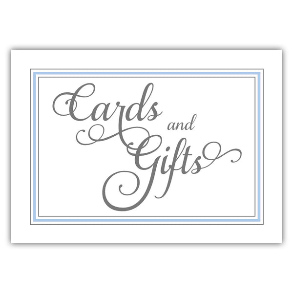 Cards and gifts sign 'Elevated Elegance' - Steel blue - Dazzling Daisies