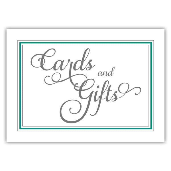 Cards and gifts sign 'Elevated Elegance' - Teal - Dazzling Daisies