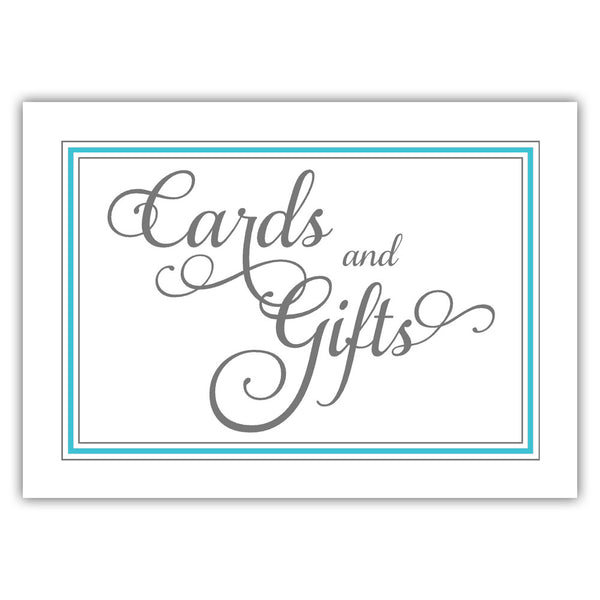 Cards and gifts sign 'Elevated Elegance' - Turquoise - Dazzling Daisies