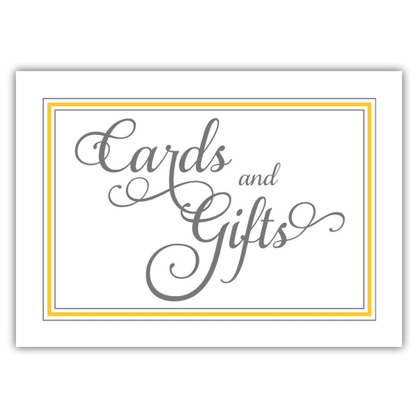 Cards and gifts sign 'Elevated Elegance' - Yellow - Dazzling Daisies