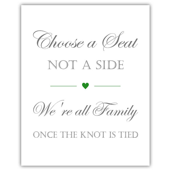 Choose a seat not a side sign - Green - Dazzling Daisies