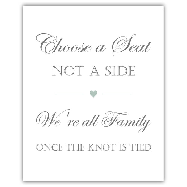 Choose a seat not a side sign - Sage - Dazzling Daisies