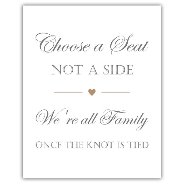 Choose a seat not a side sign - Sand - Dazzling Daisies