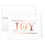 Christmas cards 'Oh Christmas Tree' - Joy / Rose gold foil - Dazzling Daisies