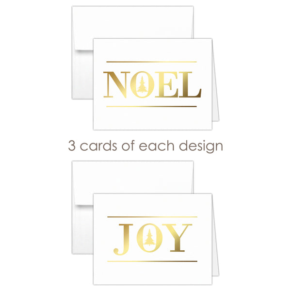 Christmas cards 'Oh Christmas Tree' - Mixed / Gold foil - Dazzling Daisies