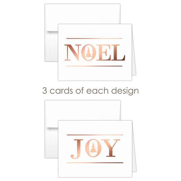 Christmas cards 'Oh Christmas Tree' - Mixed / Rose gold foil - Dazzling Daisies