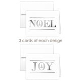 Christmas cards 'Oh Christmas Tree' - Mixed / Silver foil - Dazzling Daisies