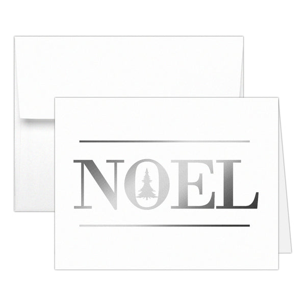 Christmas cards 'Oh Christmas Tree' - Noel / Silver foil - Dazzling Daisies