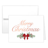 Christmas cards 'Pine Berries' - Rose gold foil - Dazzling Daisies