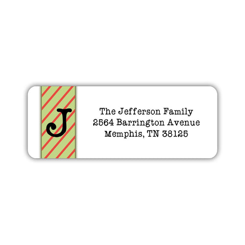 Christmas return address labels 'Grinch Stripes' -  - Dazzling Daisies