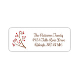 Holiday return address labels 'Holly' -  - Dazzling Daisies