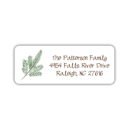 Christmas return address labels 'Branch' -  - Dazzling Daisies