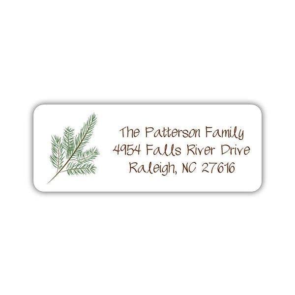 christmas return address labels branch dazzling daisies