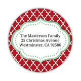 Christmas return address labels 'Tailored Trellis' -  - Dazzling Daisies