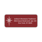 Christmas return address labels 'Star of Bethlehem' - Maroon - Dazzling Daisies