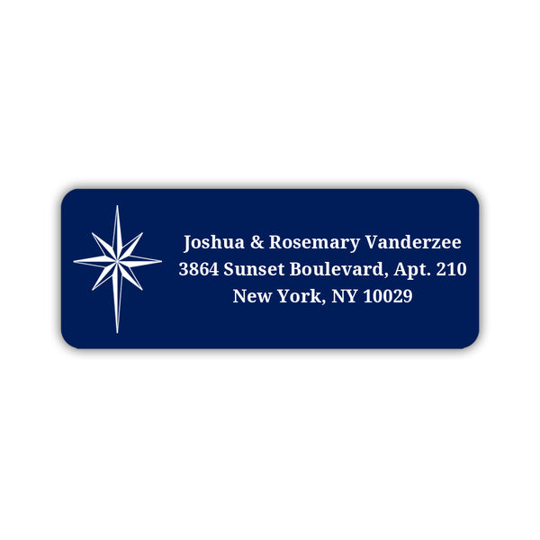 Christmas return address labels 'Star of Bethlehem' - Navy - Dazzling Daisies