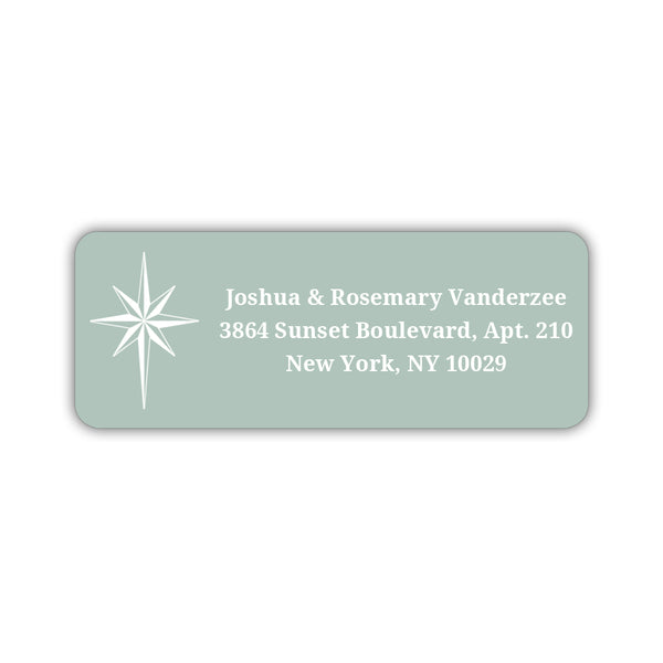 Christmas return address labels 'Star of Bethlehem' - Sage - Dazzling Daisies