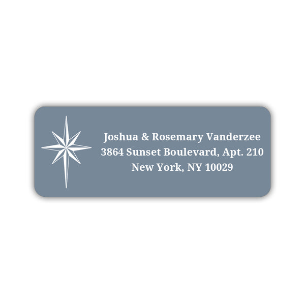 Christmas return address labels 'Star of Bethlehem' - Slate - Dazzling Daisies