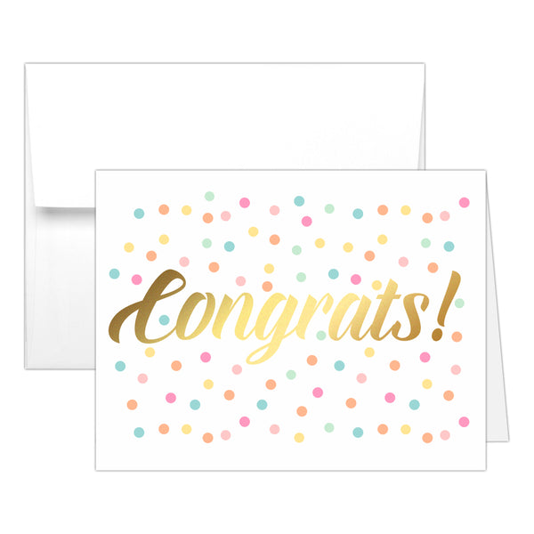Congrats card 'Confetti Sprinkle' - Gold foil - Dazzling Daisies