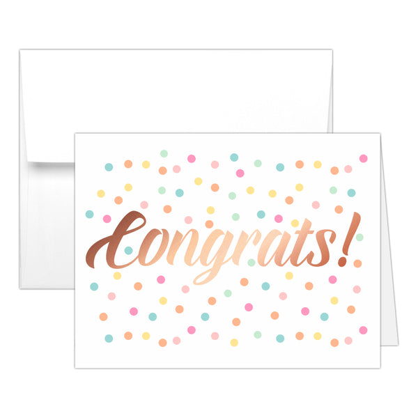 Congrats card 'Confetti Sprinkle' - Rose gold foil - Dazzling Daisies