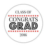 Congrats grad stickers 'Disco Inferno' - 1.5