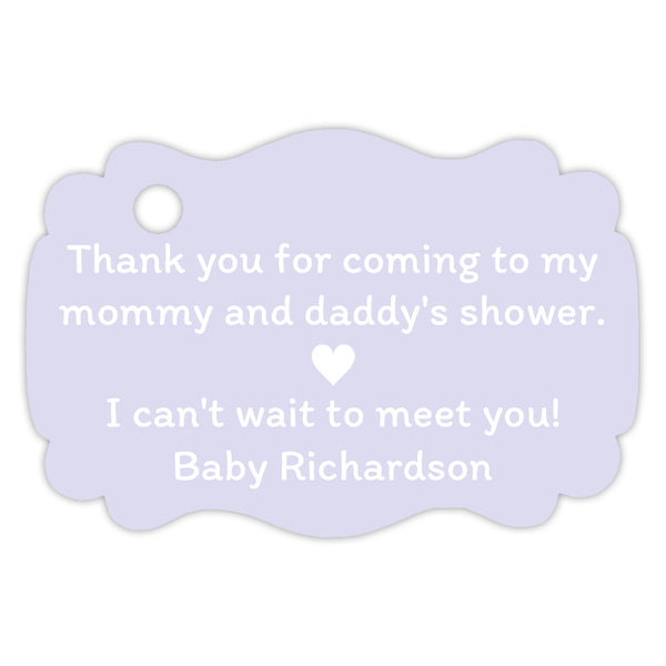 Thank you for coming to my parents' shower tags - Lavender - Dazzling Daisies