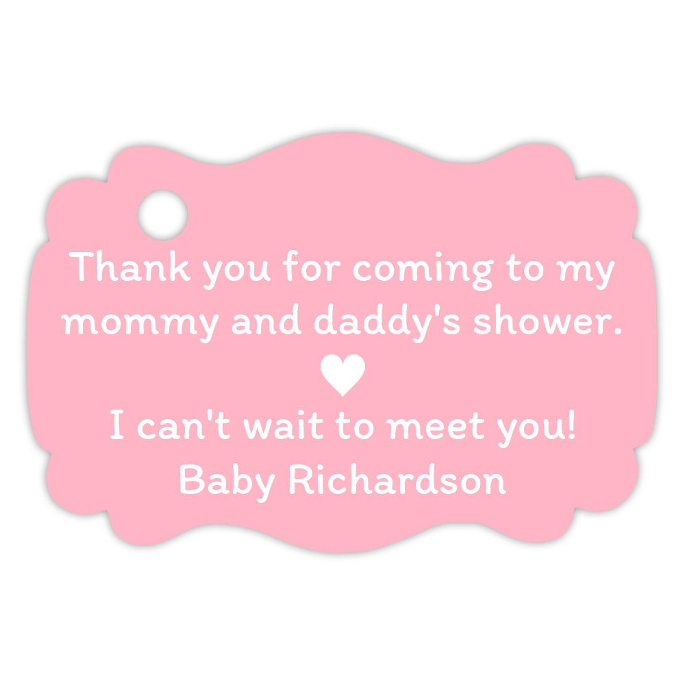 Baby shower tags | Dazzling Daisies