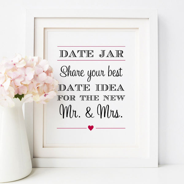 Date jar sign -  - Dazzling Daisies