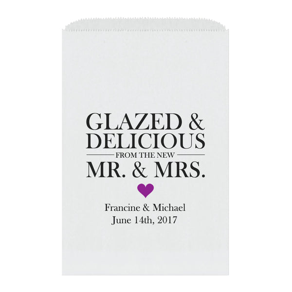 Donut favor bags - Purple - Dazzling Daisies