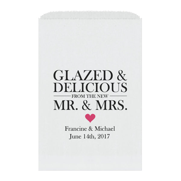 Donut favor bags - Raspberry - Dazzling Daisies
