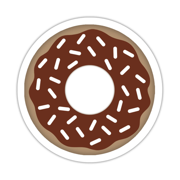 "Donut stickers - 1.5"" circle = 30 labels per sheet / Chocolate - Dazzling Daisies"