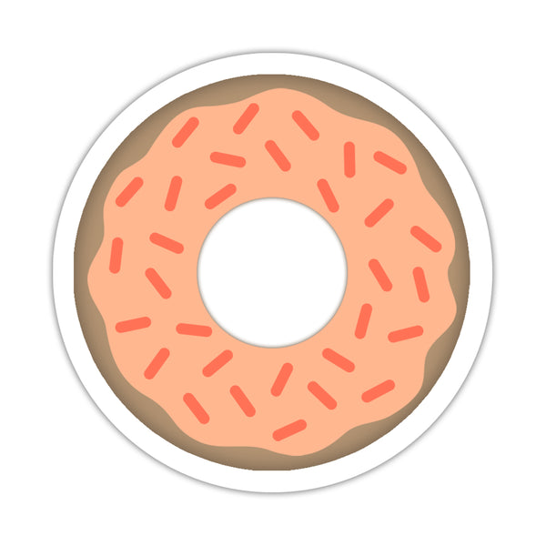 "Donut stickers - 1.5"" circle = 30 labels per sheet / Peach - Dazzling Daisies"