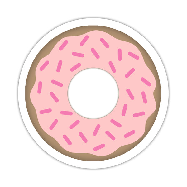 "Donut stickers - 1.5"" circle = 30 labels per sheet / Pink - Dazzling Daisies"