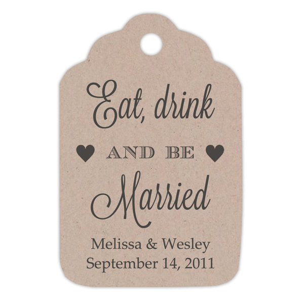 Rustic eat drink and be married tags -  - Dazzling Daisies