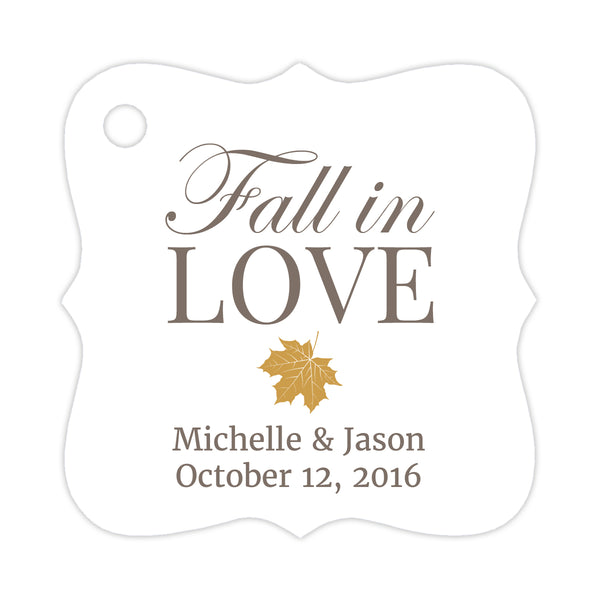 Fall in love tags - Gold - Dazzling Daisies
