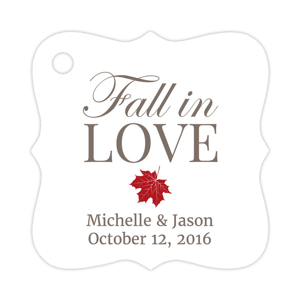 Fall in love tags - Indian red - Dazzling Daisies