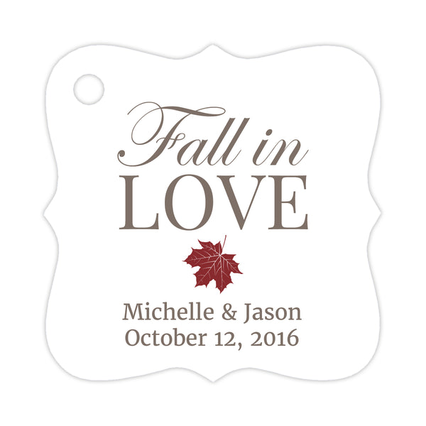 Fall in love tags - Maroon - Dazzling Daisies