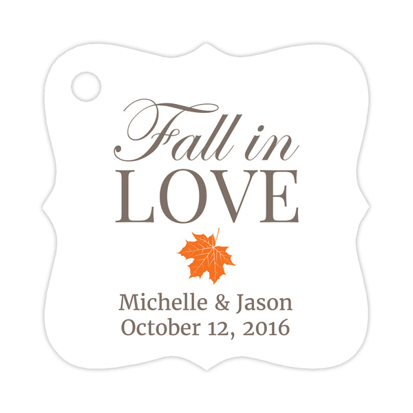 Fall in love tags - Orange - Dazzling Daisies