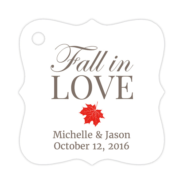 Fall in love tags - Red - Dazzling Daisies